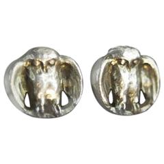 Thomas S. Foley's Personal Silver Owl Cuff Links, Former Speaker of the House