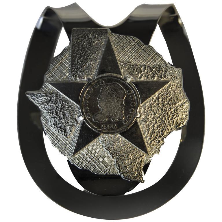 Republic of Texas Liberty Half-Dime Sterling Silver Money Clip, circa 1836