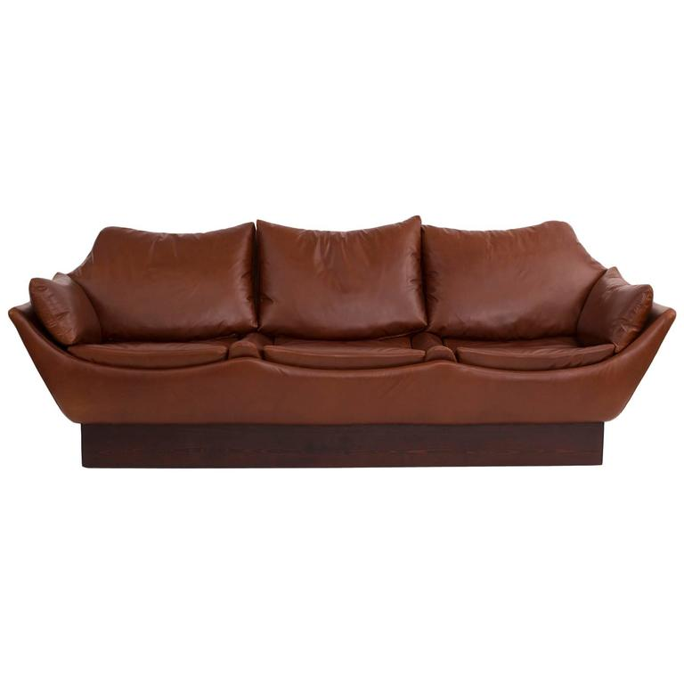 Phenomenal Danish Leather Sofa 1