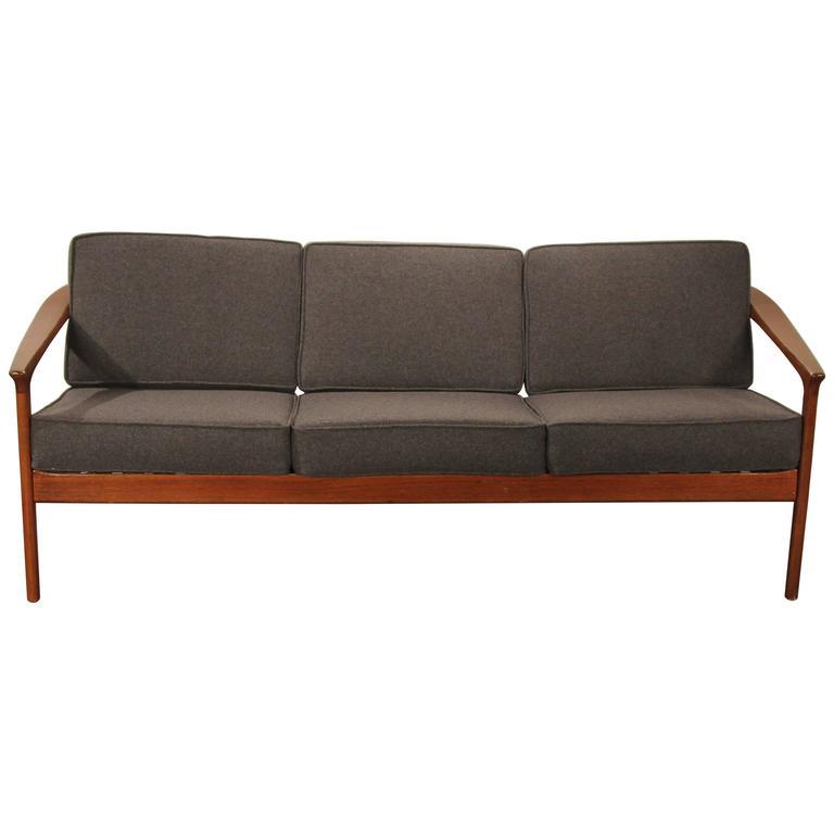 Folke Ohlsson For Dux Solid Teak Sofa