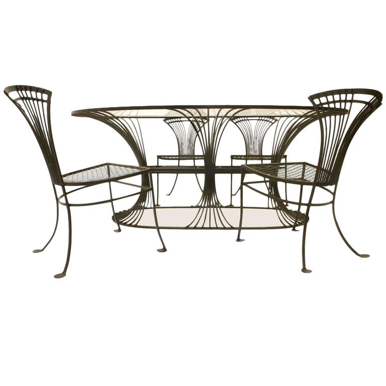 this modernist metal dining table chairs is no longer available