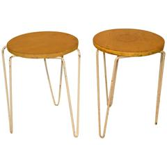 Pair of Florence Knoll #75 Stools