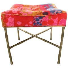 Jack Lenor X-Base Ottoman Gold Bamboo