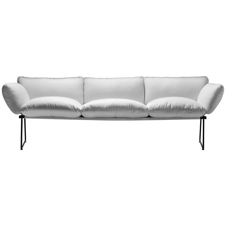 """Elisa"" Outdoor Three-Seat Sofa Designed by Enzo Mari for Driade"