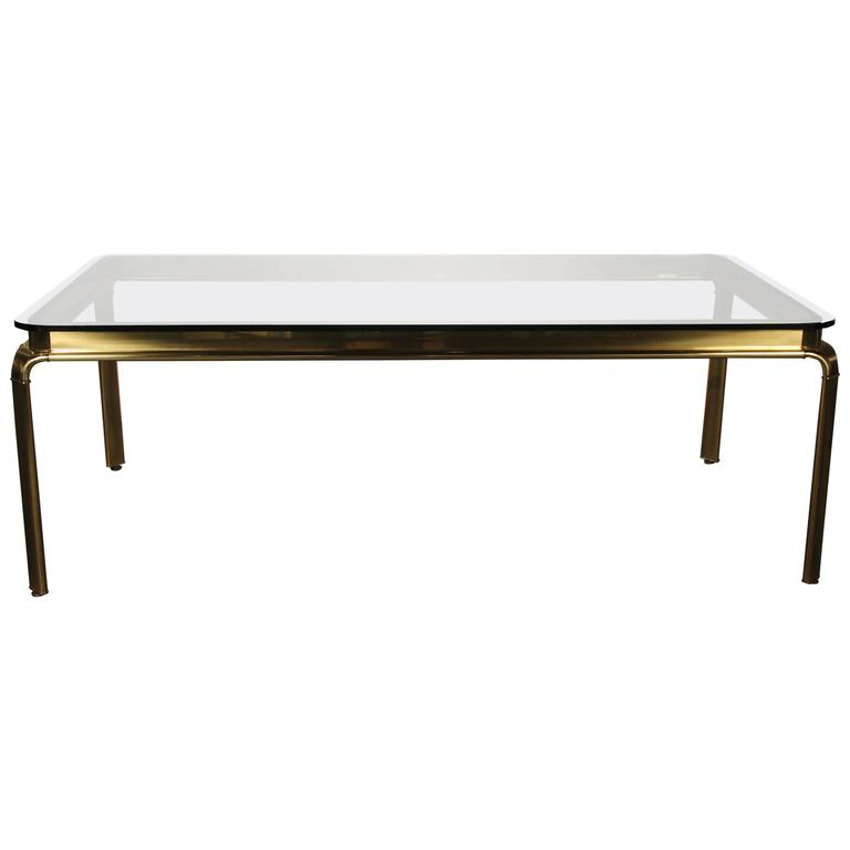large brass and glass widdicomb dining table at 1stdibs