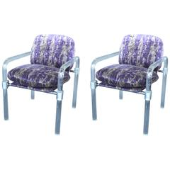 "Pair of ""Pipe Line Series ii Chairs"" in Molded Lucite by Jeff Messerschmidt"