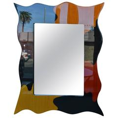 Whimsical Wooden Mirror