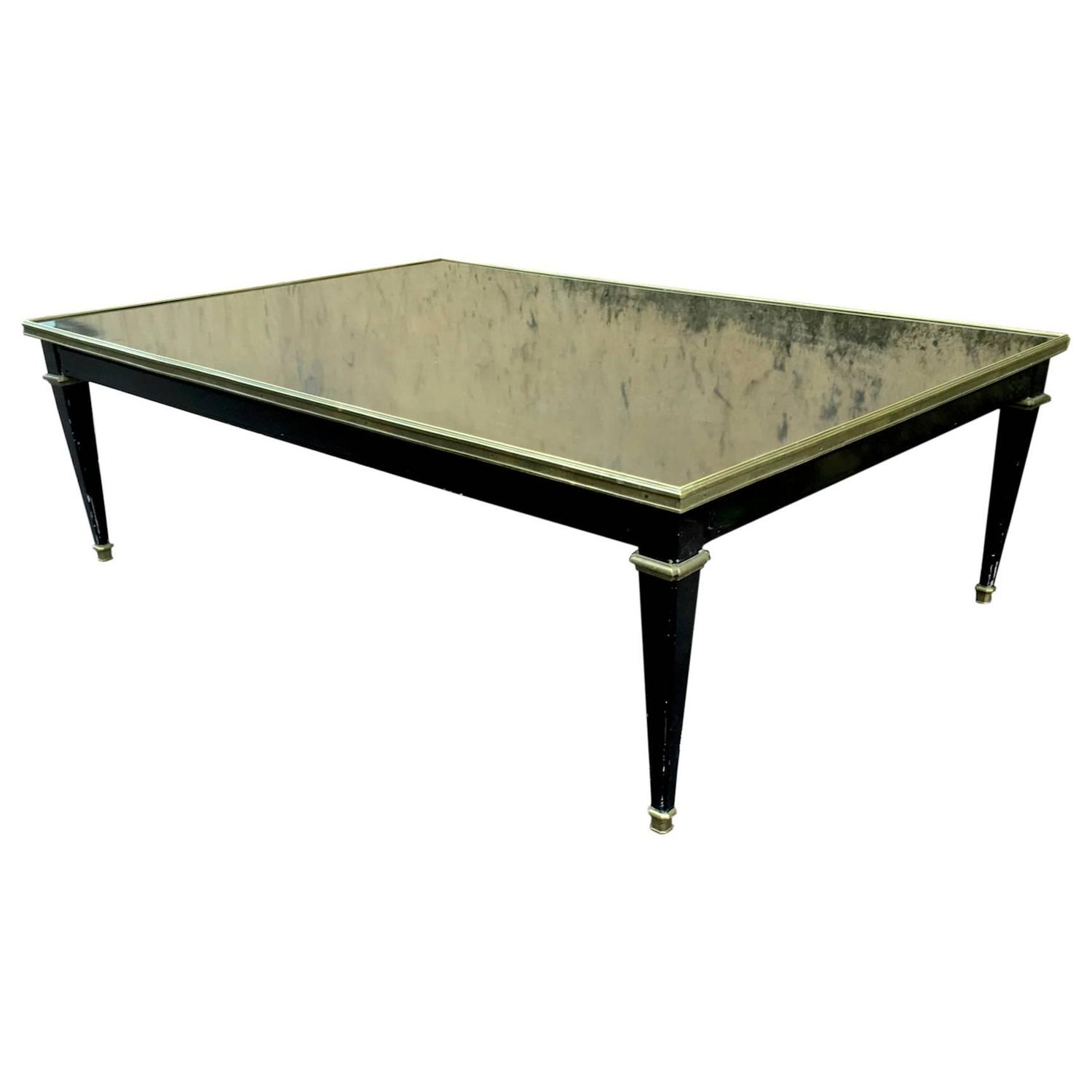 Maison Jansen Black Lacquered Neoclassic Large Coffee