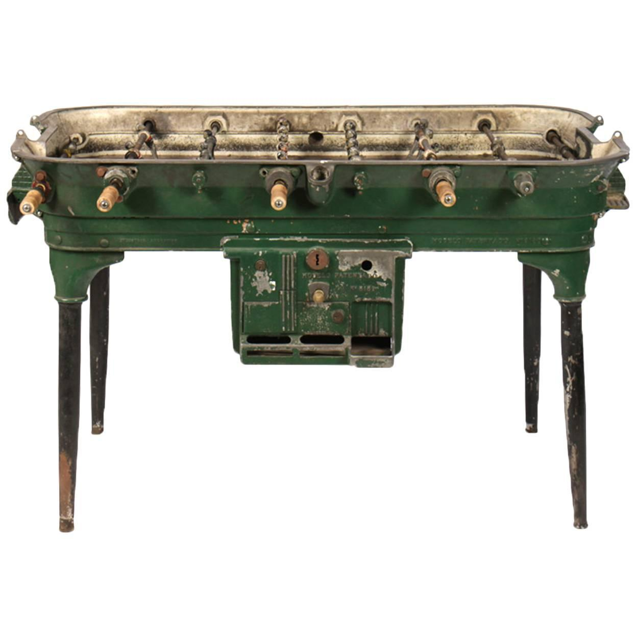 Vintage Cast Metal Foosball Table For Sale At 1stdibs