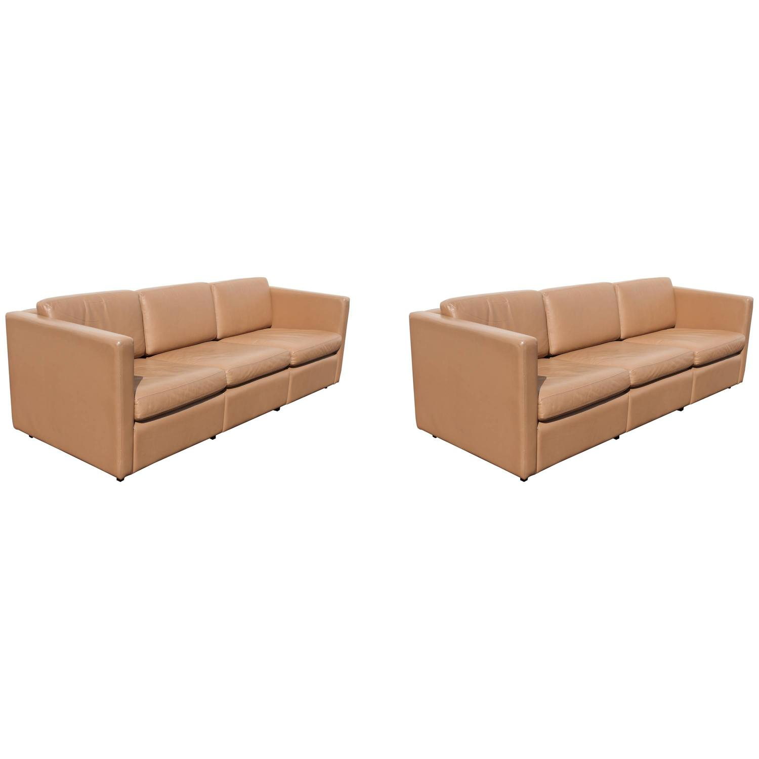 Pair Of Charles Pfister For Knoll Petite Sofas In Original
