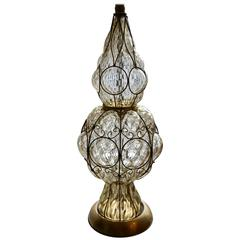 Large Scale Vintage Marbro Venetian Glass Lamp