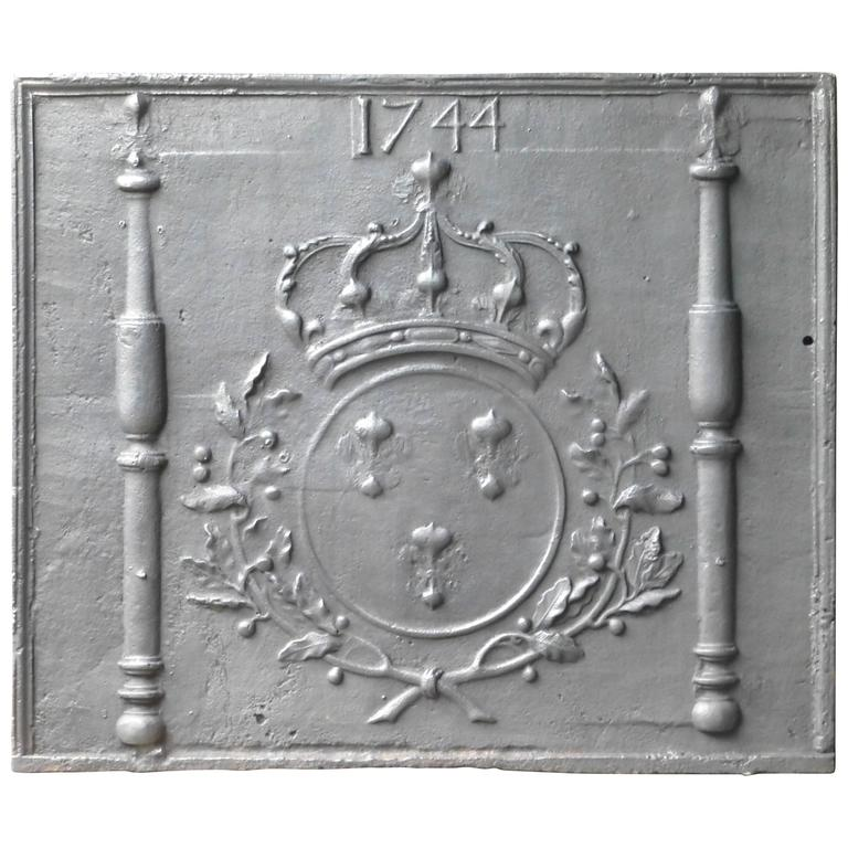 18th Century Fireback Arms of France