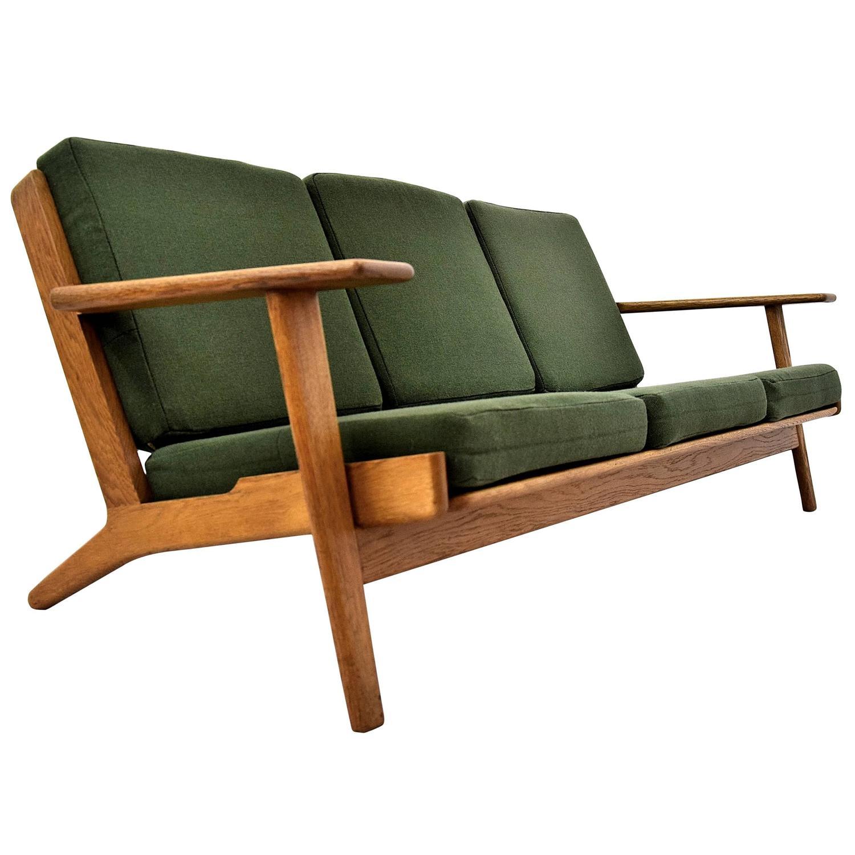 Hans Wegner GE 290 Sofa for GETAMA Denmark For Sale at 1stdibs