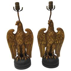 Pair of Eagle Lamps