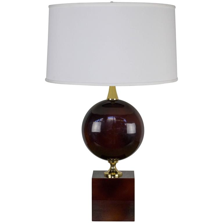 French aubergine enameled table lamp by maison barbier for sale at french aubergine enameled table lamp by maison barbier for sale mozeypictures Gallery