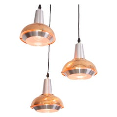 Aluminium and Copper Fog and Morup, 1960s Chandelier