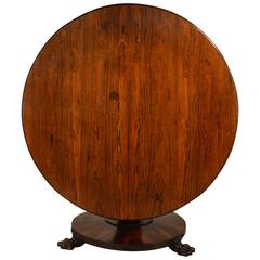 19th Century English Rosewood Tilt-Top Table