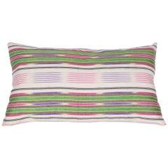 Early 20th Century Uzbek Silk Ikat Pillow