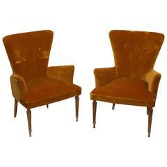 Pair of Italian 1950s Bedroom Chairs