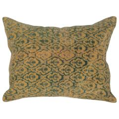 Early 20th Century Central Asian Cut Velvet Pillow