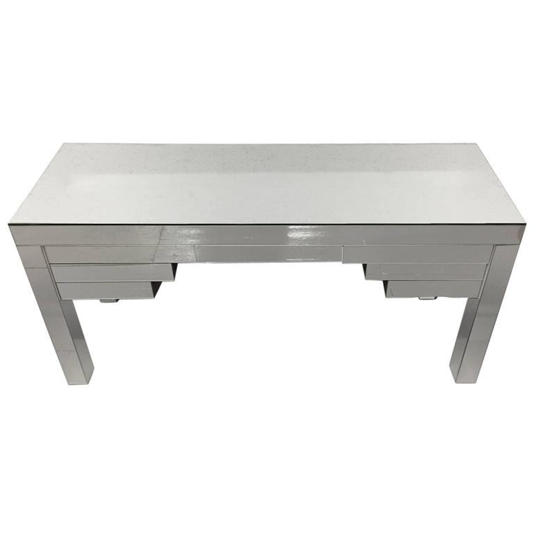 Custom Clad Mirrored Desk, Custom Design For Sale