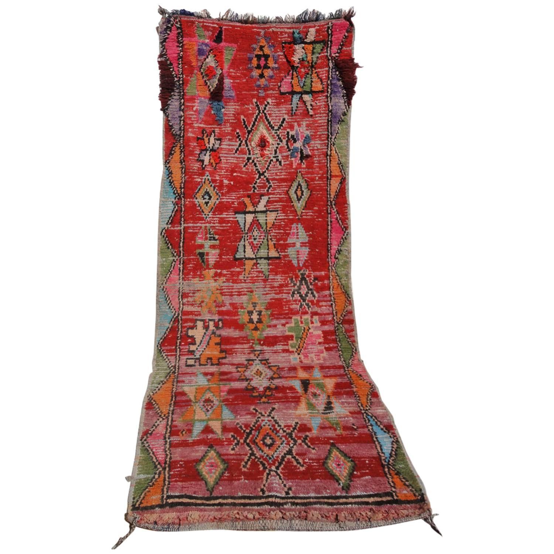 Rag Rug Prices: 'Boucherouite' Vintage Moroccan Red Rag Rug At 1stdibs