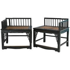 Pair of Southeast Asian Burmese Chairs