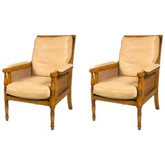 Pair of Rose Tarlow Cane Chairs