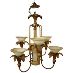20th century Art Deco Style Italian Chandelier