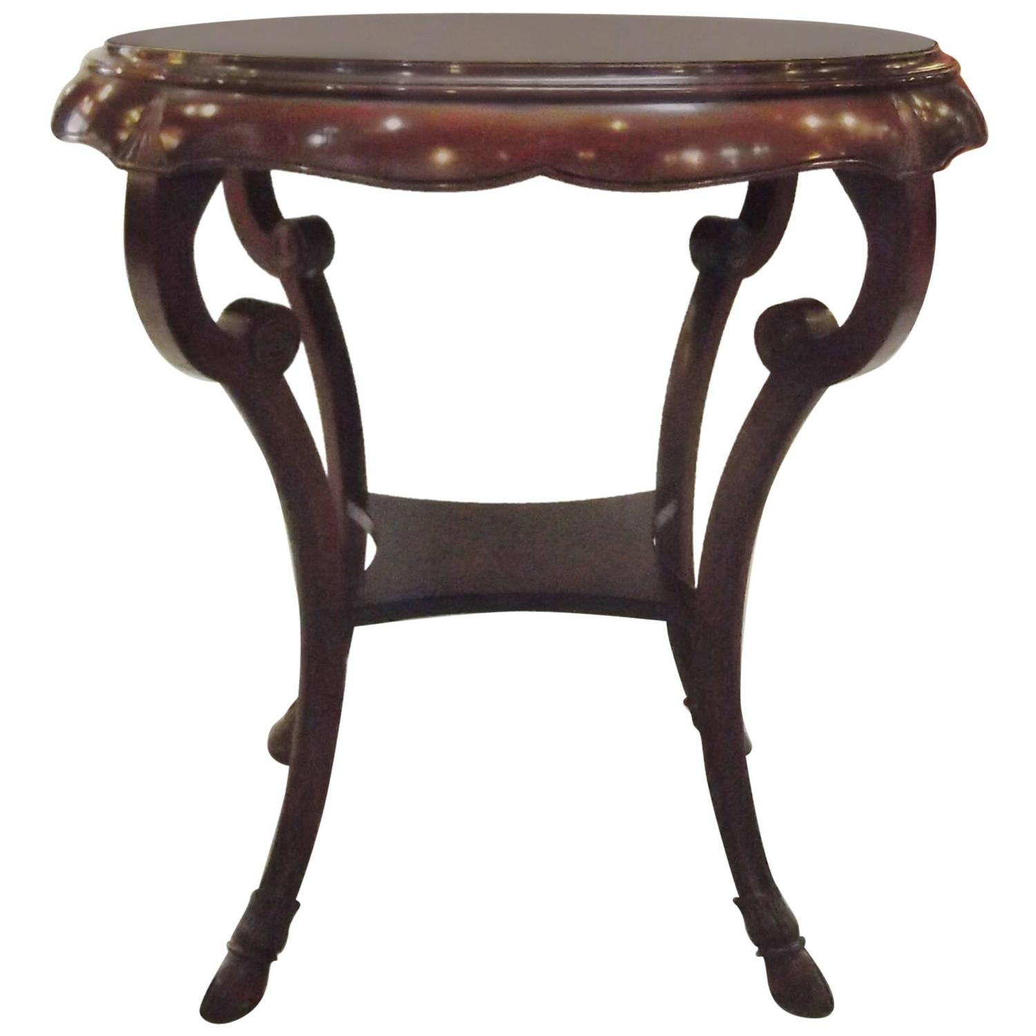 elegant carved round side table at 1stdibs