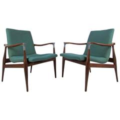 Pair of Mid-Century Floating Side Chairs