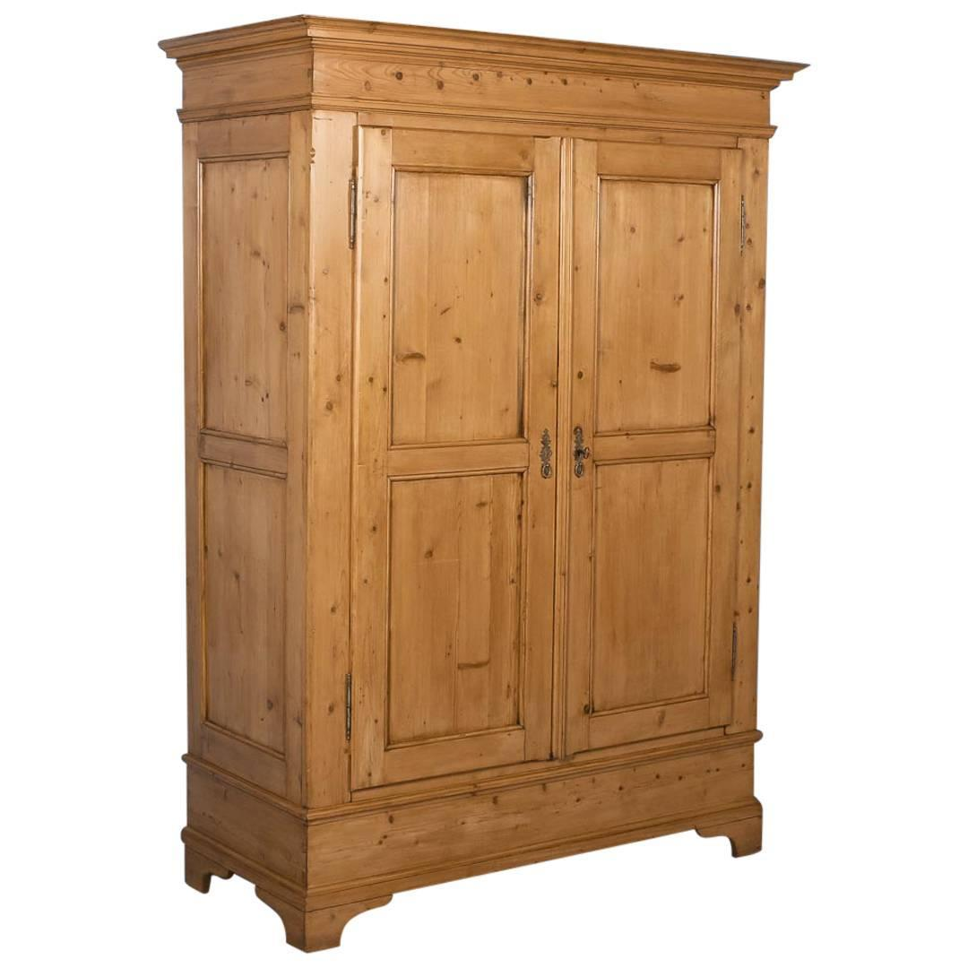 Antique Pine Two Door Armoire From Denmark Circa 1880 At