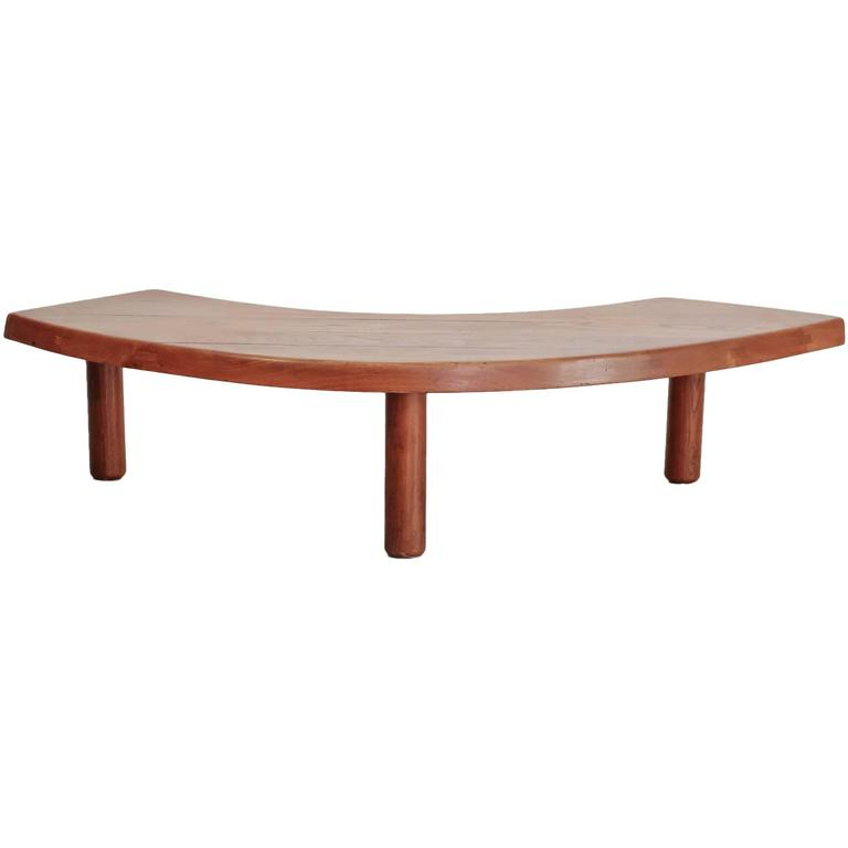 Pierre Chapo Boomerang Shaped Elm Coffee Table France