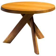 Pierre Chapo Round Three Legged 'Sfax' Table, France, 1970s