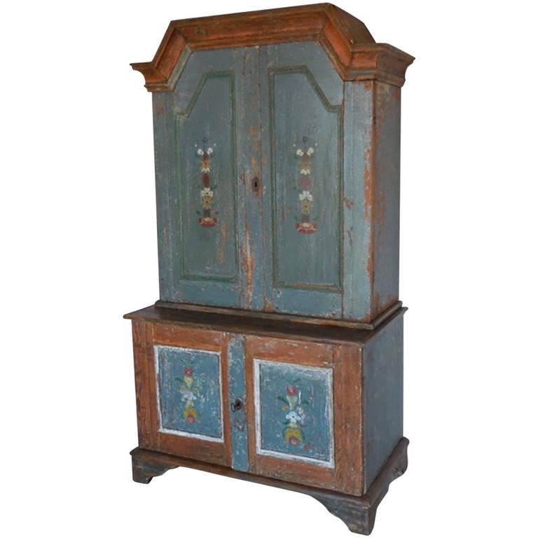 19th century painted swedish cabinet at 1stdibs for 19th century kitchen cabinets