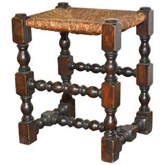 19th Century English Oak Stool
