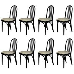 1918-20 Set of Eight Chairs Model 639 by Thonet, cotton - Czechoslovaquia