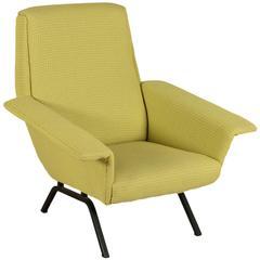 Mid-Century Italian Foam and Fabric Armchair by Busnelli