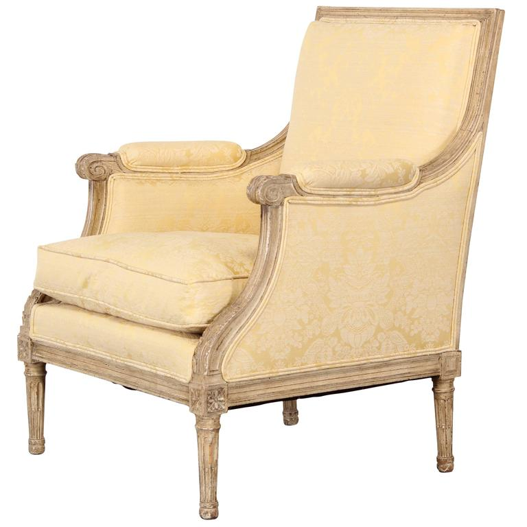 french louis xvi style bergere chair, 1950 at 1stdibs