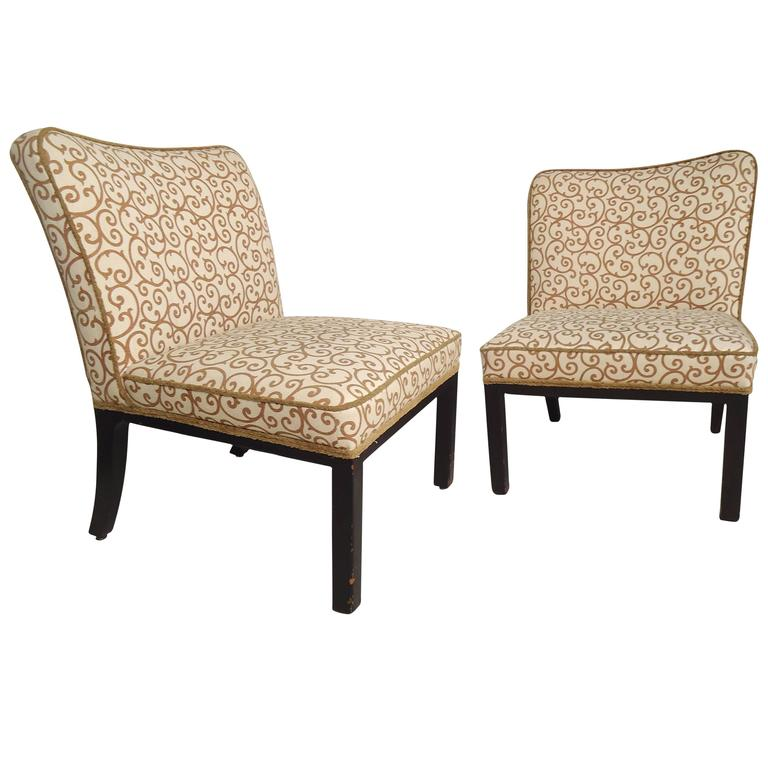 Pair of Attractive Slipper Chairs