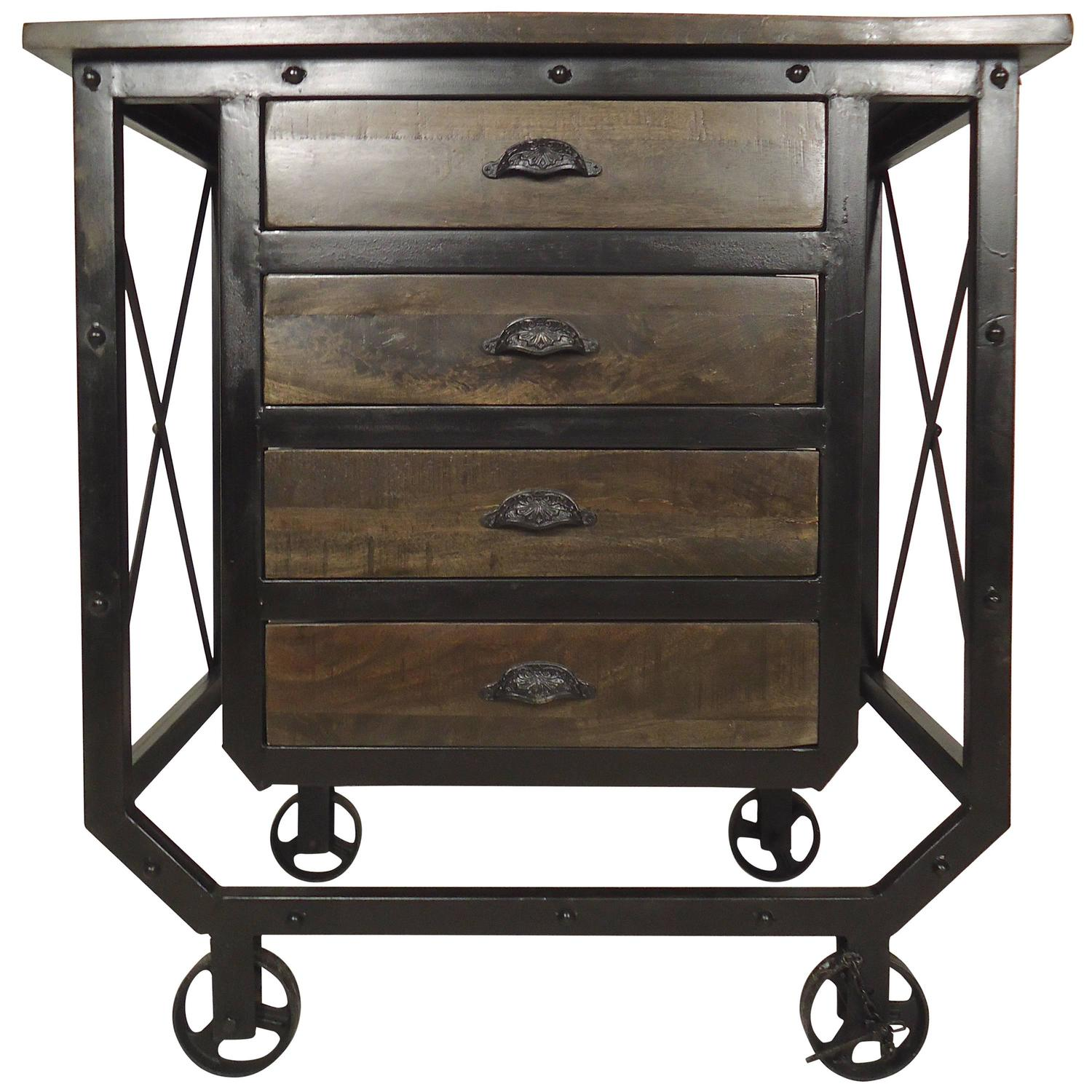 Industrial Rolling Kitchen Cart: Industrial Style Rolling Cart For Sale At 1stdibs