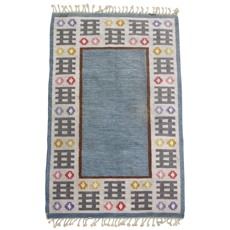 1950s Swedish Rug by AW For Sale