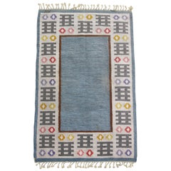 1950s Swedish Rug by Mai Wellner