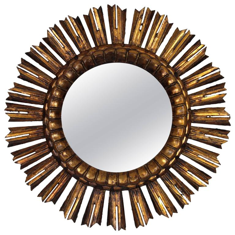 French Giltwood Sunburst Mirror
