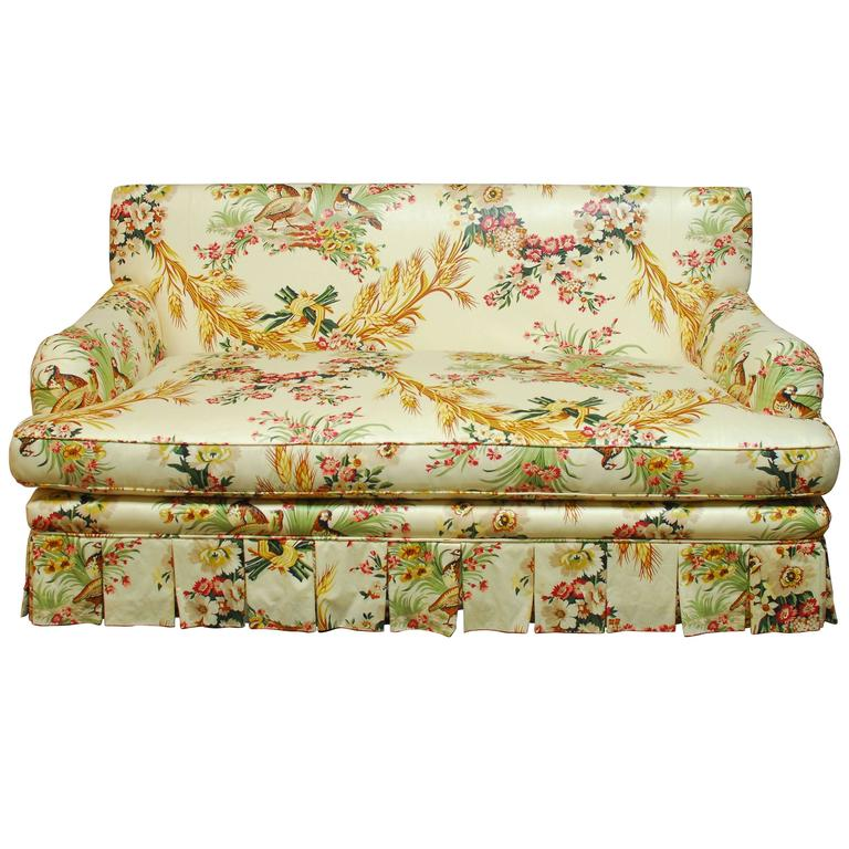 French Brunschwig And Fils Pheasant Toile Sofa At 1stdibs