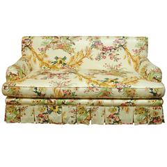 French Brunschwig & Fils Pheasant Toile Sofa