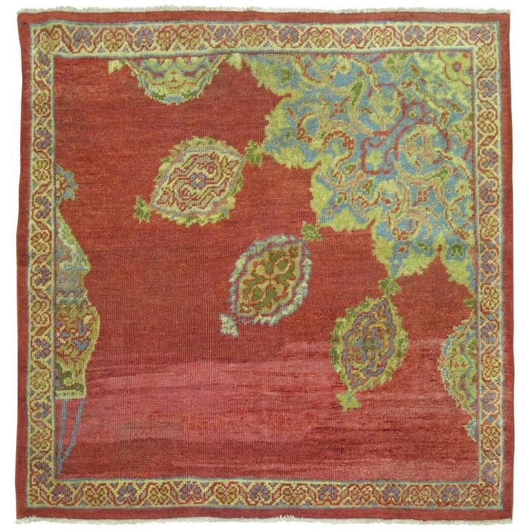 Antique Persian Ziegler Sultanabad Sampler Rug