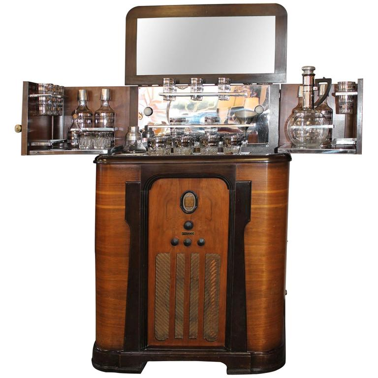 Philco Bar And Radio Cabinet At 1stdibs