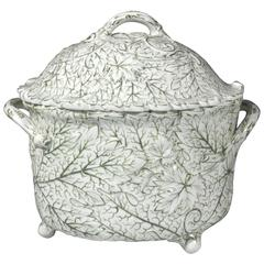 Wedgwood Pearlware Moulded Leaf Tureen and Cover