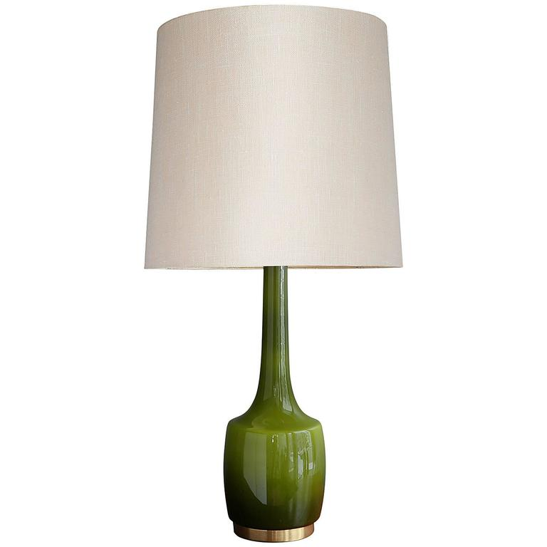 this green glass table lamp by holm s rensen co is no longer. Black Bedroom Furniture Sets. Home Design Ideas